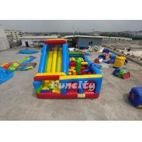 Best Customized Inflatable Obstacle Castle Size 9m*5m*5m With 0.55 Mm Pvc Tarpaulin wholesale