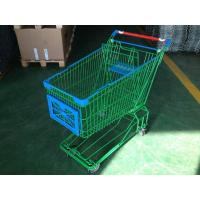 Quality 150L Asian Supermaket Wire Shopping Trolley With Swivel Casters wholesale