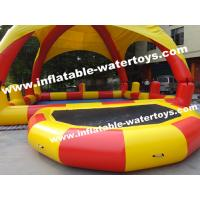 Best 0.9mm PVC Tarpaulin Inflatable Water Pools with protective Pillar and Net wholesale