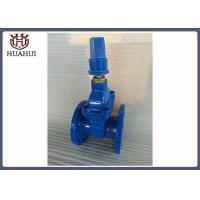 Resilient seated gate valve with brass gland double flange nut operation