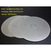 "6"" Grit 400 Diamond Flat Lap Disc with electroplated grinding surface for lapidary"