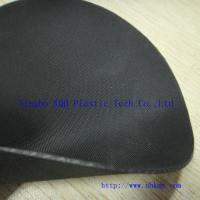 Quality 1.0mm Two Face Cloth Finish Black Hypalon Fabric Sheet wholesale