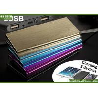 Quality 6000mAh Ultra Slim Power Bank Dual USB Output With LED Flash Light wholesale
