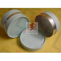 Quality Small Composite Paper Cans Packaging UV Coating with Ribbon wholesale