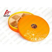 Quality Large Round Storage Boxes With Lids , Two Pieces Flat Pack Cardboard Gift Boxes wholesale