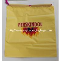 Quality Yellow Waterproof Nylon Mesh Promotional Drawstring Bags / Personalized Drawstring Bags wholesale