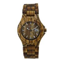 Zebra Wood Wooden Wrist Watch Unisex , Wooden Mens Watch Magnet Clasp