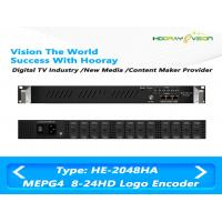 Quality HE-2048HA 8 to 24 Channel MPEG-4 AVC/H.264 HD IP  Multi Channel Encoder support Logo OSD QR code wholesale