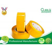 Quality Yellowish Colored Duct Tape Waterproof Masking Tape For Carton Sealing Hot Melt Adhesive wholesale
