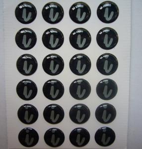 clear epoxy sticker