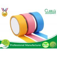 Best Rubber Adhesive Colored Masking Tape Low Tack Painters Tape For Spray Paint wholesale