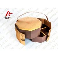 Quality Golden Coated Customized Cardboard Gift Boxes With Lids CMYK Printing wholesale