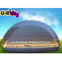 PVC Tarpaulin Inflatable Light Tent , Portable Clear Bubble Dome Tent