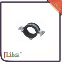 Quality M7 Nut Metal Cast Iron Pipe Clamps High Temperature With Rubber Line 134048 wholesale