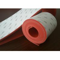 Quality Flexible Dark Red Silicone Rubber Sheet With 3M Adhesive Backed wholesale