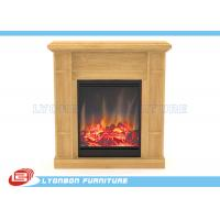 Solid Wood Veneer MDF Home Decor Fireplaces With Paint Finished / 905mm * 255mm * 970mm