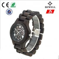Black Sandalwood / Wooden Wrist Watch For Men With Customized Logo