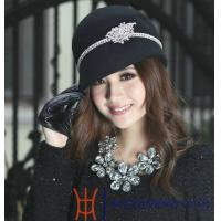 Quality Comfortable Fashion Women Wool Hats with Self Felt Braid for Party, Normal Day wholesale