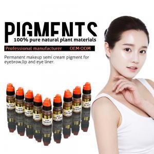 Best Multi Color Organic 8ml Semi Permanent Makeup Pigments , Eyebrow Tattoo Ink wholesale