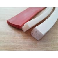 Quality One side Adhesive Close Cell Silicone Sponge Extrusion , Silicone Sponge Cord wholesale