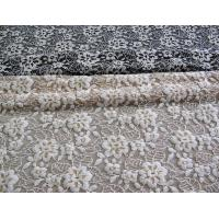 Quality Floral Brushed Elastic Lace Fabric Ivory Stretchable AZO Free Dyeing CY-LW0652 wholesale