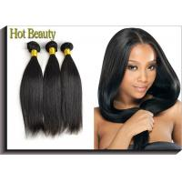 Quality Natural Black Remy Virgin Human Hair Extensions Straight Type wholesale