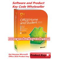 Quality Brand New Microsoft Office 2010 Key Code , Genuine Office Home and Student 2010 FPP ESD Key for 3 PCs wholesale
