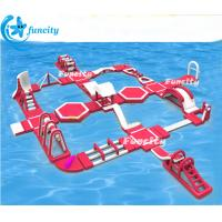 Buy cheap 45m L * 40mW *6mH Inflatable Water Park Equipment ,Floating Water Park Seaside use from wholesalers