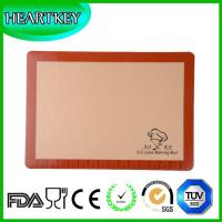 Silicone Baking Mat For Half-Size Cookie Sheet With Red Border Custom Logo