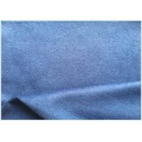 26% Wool Stretch Fabric For Suit Coat , Blue Soft Wool Fabric In Stock