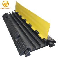 Quality Strong Flexible One Meter Yellow Jacket 3 Channel Cable Protector , Rubber Cable Ramps wholesale