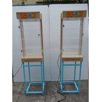 Quality Shops Lighting Acrylic Wooden Sunglasses Display Stand With Blue Metal Rack wholesale