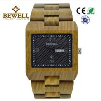 Best 100% Natural Bamboo Wood Watch , Eco Friendly Wooden Mens Watch With Green Case wholesale