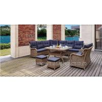 Luxury Backyard Outdoor Wicker Sofa Sets / Conversation Set Patio Furniture For Seating