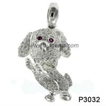 Quality Black Sapphire 925 Silver Gemstone Jewelry , Rhodolit Gemstone Jewelry Pendant wholesale