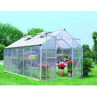 Quality 8x6 , 8x8 , 10x10 Polycarbonate Small Hobby Greenhouses / Durable Ornamental Greenhouse wholesale