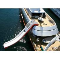 Quality Giant Inflatable Water Spots, Inflatable Curved Yacht Boat Slide wholesale