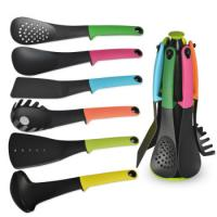 Best High quality 6-piece silicone nylon cooking set with spaghetti fork laddle spoon with FDA certification wholesale