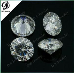 Round Synthetic White Moissanite Diamond Loose Stone
