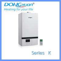 One heat exchanger wall hung gas boiler for room heating and shower hot water