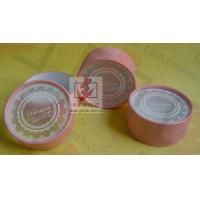 Quality Customised Pink Cardboard Canister Packaging With Plastic Jar wholesale