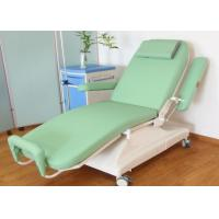 Buy cheap Green Mobile Blood Donor Chair , Foldable Electric Blood Drawing Chair from wholesalers
