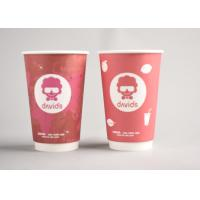 Quality Red Custom Printed Disposable Coffee Cups To Go For Office / Home wholesale