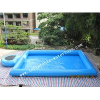 Best Blue Step Inflatable Water Swimming Pools Above Ground Salt Water Pool wholesale
