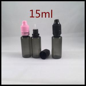 Black Plastic Ejuice Bottles 15ml PET Dropper Bottles Essential Oil Bottle