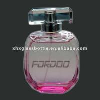 colourful and printed perfume glass bottle