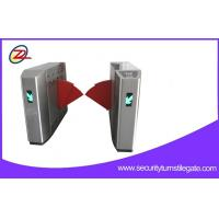Best Biometric Retractable Flap Barrier Gate , Access Control Barriers Double Swing Arm wholesale