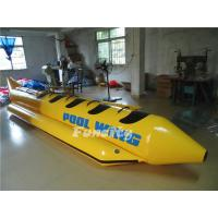 Best Single Tube Yellow Black Inflatable Banana Boat Customized Sea Ocean wholesale