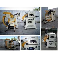 Industrial NC Servo Decoiler Straightener Feeder for 0.5 - 4.5mm Thickness All Metal Coil