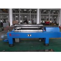 Quality Blue Horizontal Decanter Centrifuge Speed 3600 R/Min Starch Washing And Dehydrating wholesale